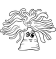 anemone cartoon coloring page vector image vector image
