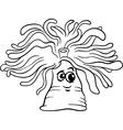 anemone cartoon coloring page vector image