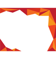 background trangle orange vector image vector image