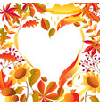 background with stylized autumn items vector image vector image