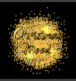 banner for christmas mood with gold texture vector image