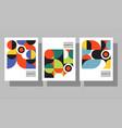 bauhaus geometric graphic design covers vector image vector image