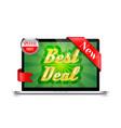 best deal banner design vector image