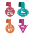 best price and sale tags free delivery icons vector image