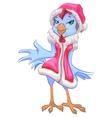 Blue Santa chicken symbol 2017 Female rooster vector image vector image