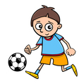 boy playing ball cartoon vector image