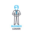 business leader concept outline icon linear vector image vector image