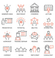 Business people training icons vector image vector image