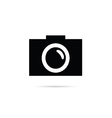 camera focus technology in black color vector image vector image