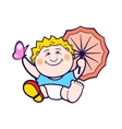 Child with umbrella vector image