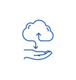cloud services line icon concept cloud services vector image vector image