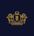 coat arms farming vector image