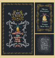 collection christmas design elements isolated vector image