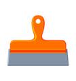 colorful cartoon whide spatula vector image vector image
