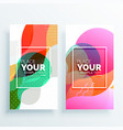 creative colorful abstract banners set vector image vector image