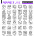 creative process outline mini concept symbols vector image vector image