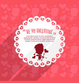 cupid valentines day background vector image vector image