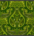 dark paisley seamless pattern original colorful vector image vector image