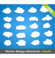 Design Elements Clouds vector image vector image