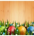Easter Folk Card vector image vector image