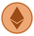 ethereum crystal bronze coin vector image vector image