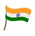 flag india icon cartoon style vector image vector image
