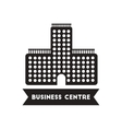 flat icon in black and white style building vector image vector image