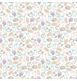 food and drinks seamless pattern design - seamless vector image vector image