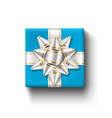gift box 3d top view isolated white background vector image vector image