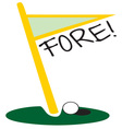 Golf Fore vector image vector image