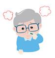 grandpa got fever high temperature cartoon vector image vector image