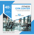 gym fitness instagram post banner vector image