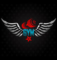 gym symbol for training vector image vector image