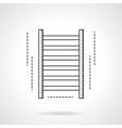 Gym wall bars flat line icon vector image vector image