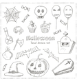 Happy Halloween Trick or Treat Doodles Hand Drawn vector image vector image
