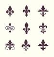 heraldic symbols fleur de lis set vector image vector image