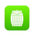 honey keg icon digital green vector image vector image