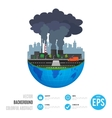 Industry earth concept for vector image