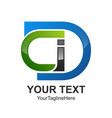 initial letter cdi logo design template element vector image
