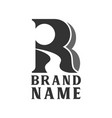 initial r with landscape logo creative concept vector image vector image