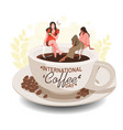 international day coffee vector image vector image