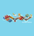 isometric map of delivery service vector image vector image