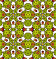 Kaleidoscope of succulents vector image