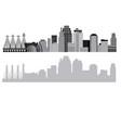 kansas-city-skyline vector image vector image