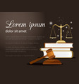 law and justice background vector image vector image