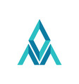letter m diamond abstract logo icon vector image vector image