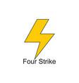 letter s thunder shape geometric logo vector image vector image