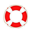 lifebuoy on white vector image