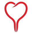 Line heart vector image vector image