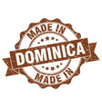made in dominica round seal vector image vector image